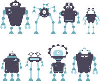 Robot set Royalty Free Stock Photography
