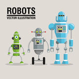 Robot set design. Technology concept. humanoid icon. Robot concept with icon design, vector illustration 10 eps graphic Royalty Free Stock Image