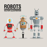 Robot set design. Technology concept. humanoid icon. Robot concept with icon design, vector illustration 10 eps graphic Royalty Free Stock Images