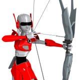 Robot shooting bow 1 Stock Image