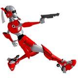 Robot shooting gun 4 Royalty Free Stock Photography