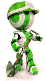 Robot with shovel Stock Images