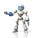 Robot shows the directions. Royalty Free Stock Photography