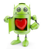 Robot shows heart Stock Images