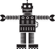 Robot Silhouette Royalty Free Stock Image