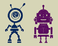 Robot silhouettest Stock Photography