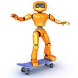 Robot skateboarding Royalty Free Stock Image