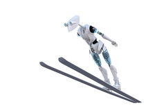 Robot Ski Jumper Stock Photography