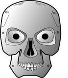 Robot skull. A robotic skull with menacing looks and evil vector illustration