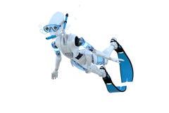 Robot Snorkeling zdjęcia stock