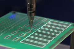 Robot for soldering Stock Photo