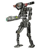 Robot soldier 2. 3D render of an iron toy robot Royalty Free Stock Image