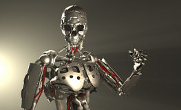 Robot soldier Royalty Free Stock Photos