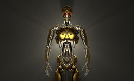 Robot soldier. Advanced robot soldier 3d render Stock Images