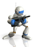 Robot soldiers during search operation Royalty Free Stock Image