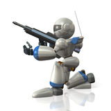 Robot soldiers Royalty Free Stock Images