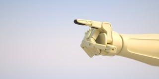 Robot som ger kommando med hans pekfinger Royaltyfri Fotografi