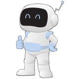 Robot sonriente que muestra el pulgar para arriba Foto de archivo libre de regalías
