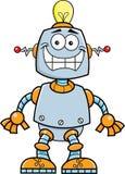 Robot sorridente del fumetto Immagini Stock Libere da Diritti