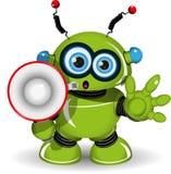 Robot and speaker Stock Photo