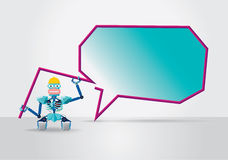 Robot with speech bubble Royalty Free Stock Images