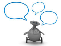 Robot with speech bubbles Royalty Free Stock Photo