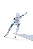 Robot Speed Skater Royalty Free Stock Photos