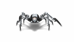 Robot spider. 3d render of a robot spider Royalty Free Stock Photography