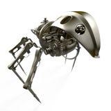 Robot - spider - spy. 3d Steampunk spider - back view Stock Photos
