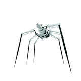 Robot - spider - spy. Isolated 3d render of steampunk spider Royalty Free Stock Photography