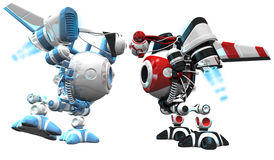 Robot Standoff Blue and Red Royalty Free Stock Photography