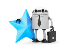 Robot with star Royalty Free Stock Images