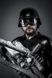 Robot.Starfighter с огромной винтовкой плазмы, концепцией фантазии, milit Стоковые Фото