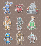 Robot stickers Royalty Free Stock Images