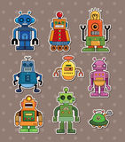 Robot stickers Stock Photos