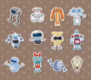 Robot stickers Stock Photography