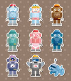 Robot stickers Royalty Free Stock Photography