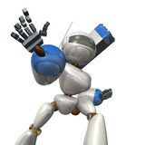 Robot stretch the one hand. Royalty Free Stock Image