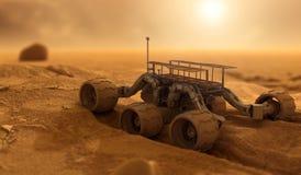 Robot su Marte Immagine Stock