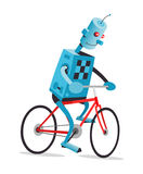 Robot su una bici Fotografie Stock