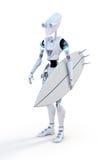 Robot Surfer Royalty Free Stock Image