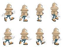 Robot sveglio del personaggio dei cartoni animati per un gioco di computer royalty illustrazione gratis