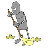 Robot Sweeping Royalty Free Stock Photography