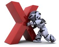 Robot with symbol Royalty Free Stock Photo