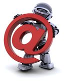 Robot with symbol vector illustration