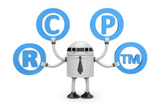 Robot with symbols Royalty Free Stock Photo