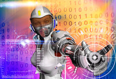 The robot Royalty Free Stock Photo