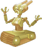 Robot with tank wheels Royalty Free Stock Photos