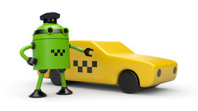Robot taxi driver Royalty Free Stock Photography