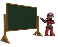 Robot teacher in classroom Stock Photos